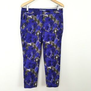 NWT Boden Bistro Crop Pants Trousers Floral Skinny